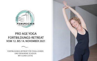 Pro Age Yoga Teacher Training mit Elena Lustig vom 12. bis 14. November 2021