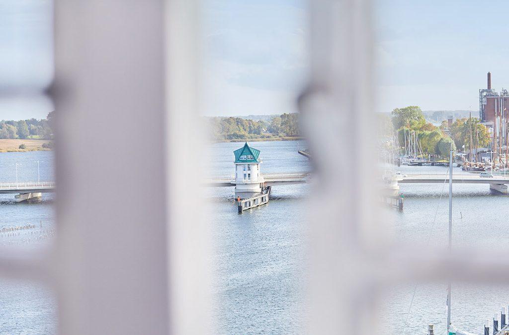 Ausblick aus dem Pierspeicher in Kappeln.
