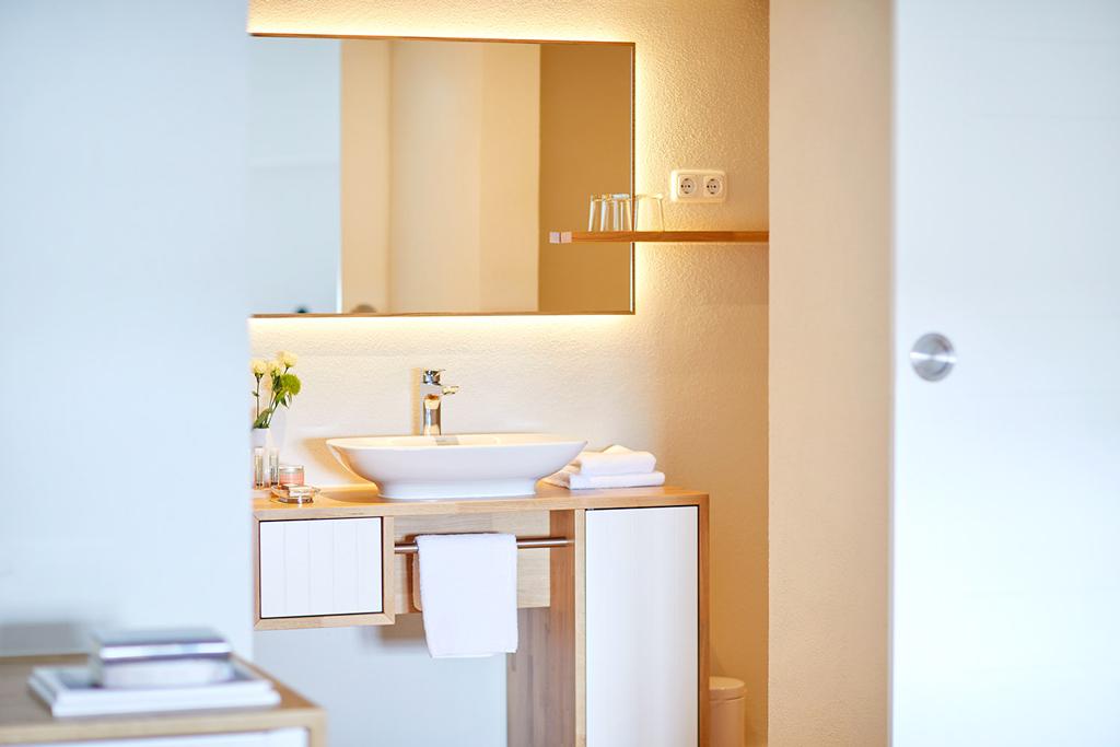 Badezimmer in unserer Suite.