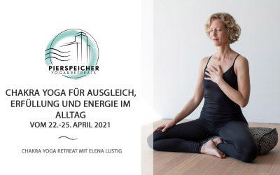 Chakra Yoga Retreat mit Elena Lustig vom 22. bis 25. April 2021