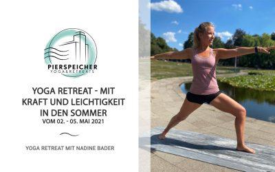 Mit Kraft und Leichtigkeit in den Sommer – Yoga Retreat mit Nadine Bader vom 02. – 05. Mai 2021