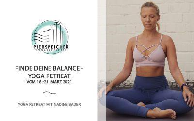 Finde deine Balance – Yoga Retreat mit Nadine Bader vom 18. – 21. März 2021