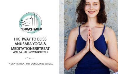 Anusara Yoga & Meditationsretreat mit Constanze Witzel vom 04.-07. November 2021