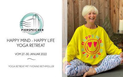 Happy Mind Retreat mit Yvonne Riethmüller vom 27.-30. Januar 2022