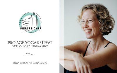 ProAgeYoga Retreat mit Elena Lustig vom 25. bis 27. Februar 2022