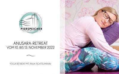 Anusara Yoga Retreat mit Anja Fichtelmann vom 10. bis 13. November 2022