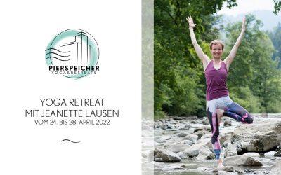Yoga Retreat mit Jeanette Lausen vom 24. bis 28. April 2022